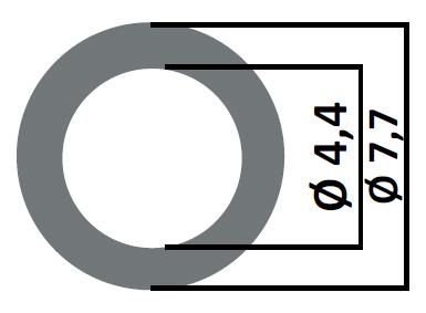 Регулировочная шайба поштучно  4,4 x 7,7  тип F00RJ01008  - 024 /  от 0,98 до 1,44 шаг  0,01 или  0,02
