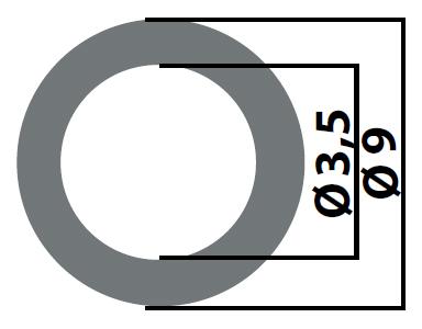 Набор регулировочных шайб 3,5 x 9 тип F00RJ01347  - 419 / от 0,78 до 1,25 шаг 0,01  / 480 шт